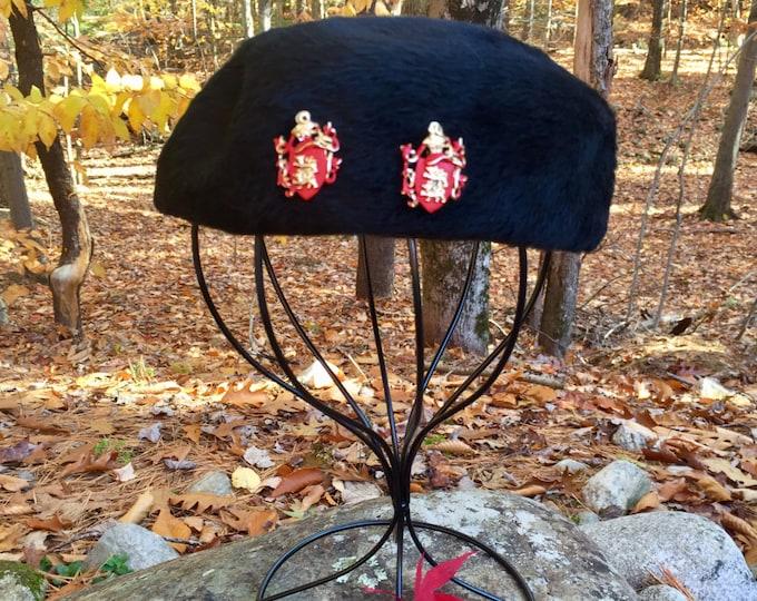 Vintage Black Beret Hat, Martel Body Made in West Germany Hat, Facon Boutique Hat, Vintage Beret