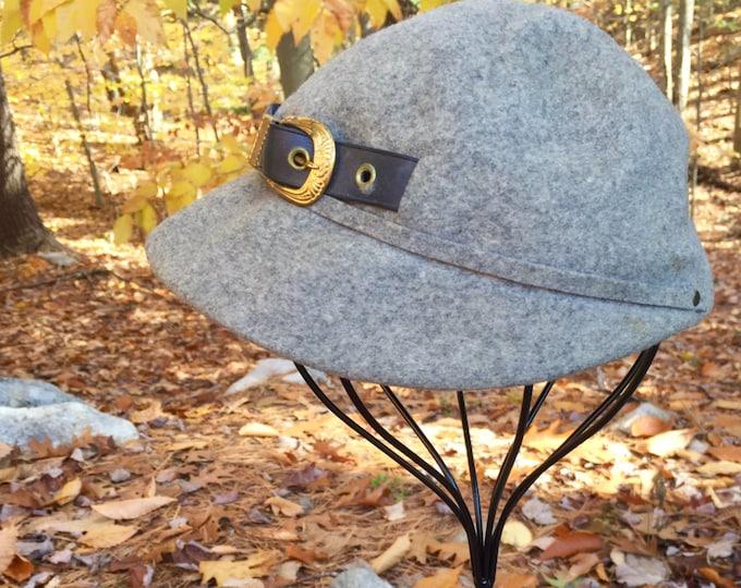 Vintage Newsboy Cap, Vintage Gray Newsboy Cap, Vintage Wool Newsboy Cap, Vintage Cap