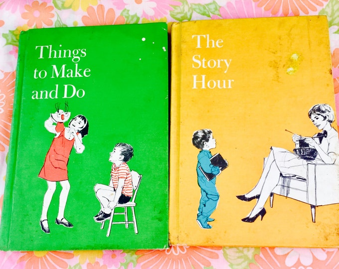 "Vintage 1969 Childrens Books, ""Things To Make and Do,"" ""The Story Hour"", Lot of 2 1960s Childrens Storybooks, Standard Educational Corp"