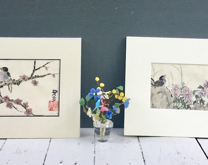 Vintage Original Japanese Bird Drawings, Vintage Original Artwork, Vintage Bird Drawings, Vintage Japanese Bird Drawings