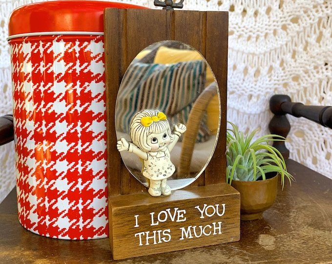 """Vintage 1970s Wallace Berrie Wall Plaque, Vintage """"I Love You"""" Gift, Vintage Gift, Retro Valentine's Gift"""