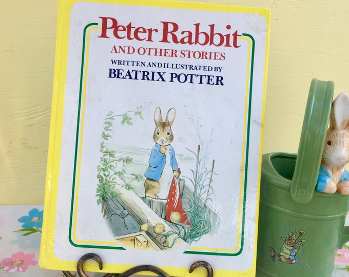 Vintage 1977 Peter Rabbit Storybook by Beatrix Potter, Vintage Peter Rabbit Book, 1970s Peter Rabbit Book, Vintage Children's Library