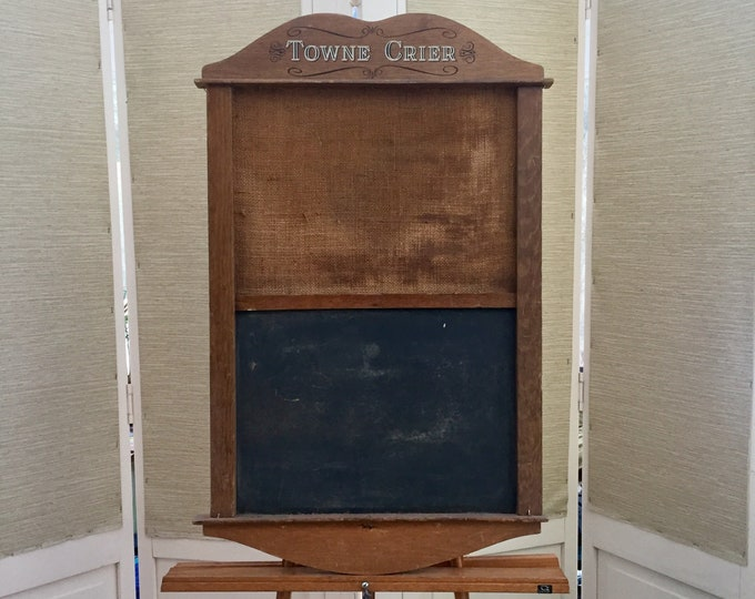 Vintage Towne Crier Chalk and Bulletin Board, Vintage Chalkboard, Vintage Bulletin Board, Vintage Farmhouse Chalkboard