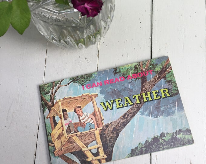 "Vintage 1970s, ""I Can Learn About Weather"" Book, Vintage Children's Weather Book, Vintage Children's Science Book, 1970s Children's Book"