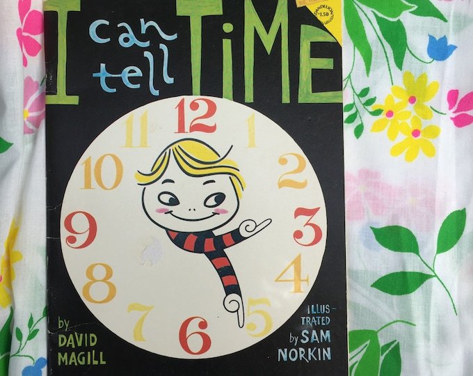 "Vintage, ""I Can Tell Time"" Book, Vintage 1970s Children's Book, Vintage Children's Learning Storybook"