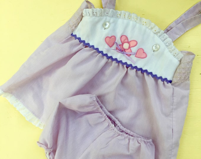 Vintage Baby Girl Outfit, Size 18 months, Vintage Baby Girl Summer Outfit, Vintage Baby Girl Two Piece Outfit with Bloomers