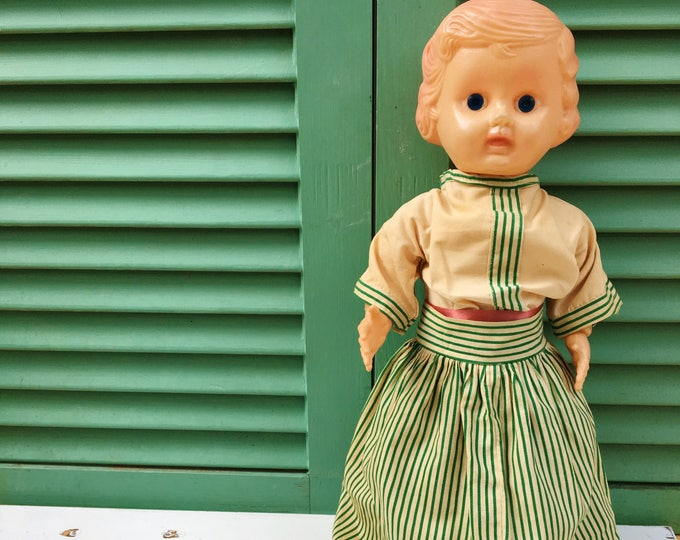 1930s Doll, Vintage Celluloid Doll, Antique Baby Doll, Collectors Doll, 15 Inch Doll, Vintage Doll, 1930s Plastic Doll