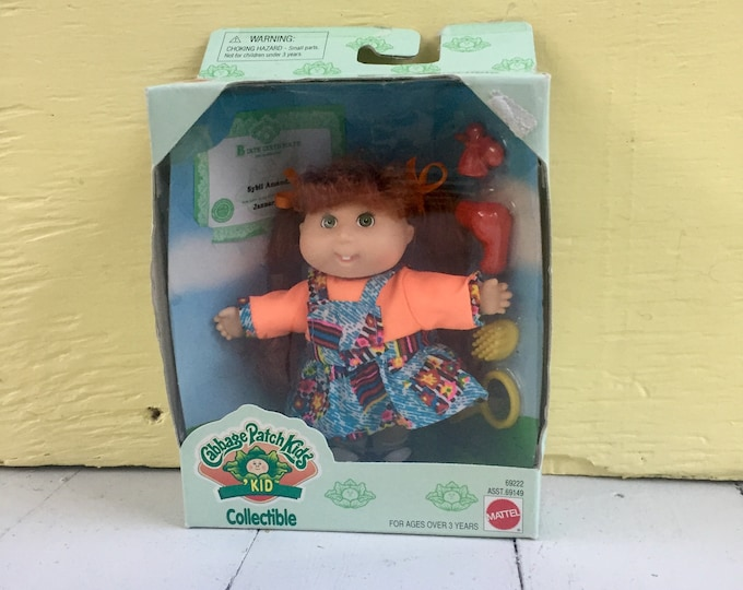 Vintage NIB Cabbage Patch Kid Doll, Vintage Miniature Cabbage Patch Doll, NOS Cabbage Patch Doll, Never Opened Cabbage Patch Doll