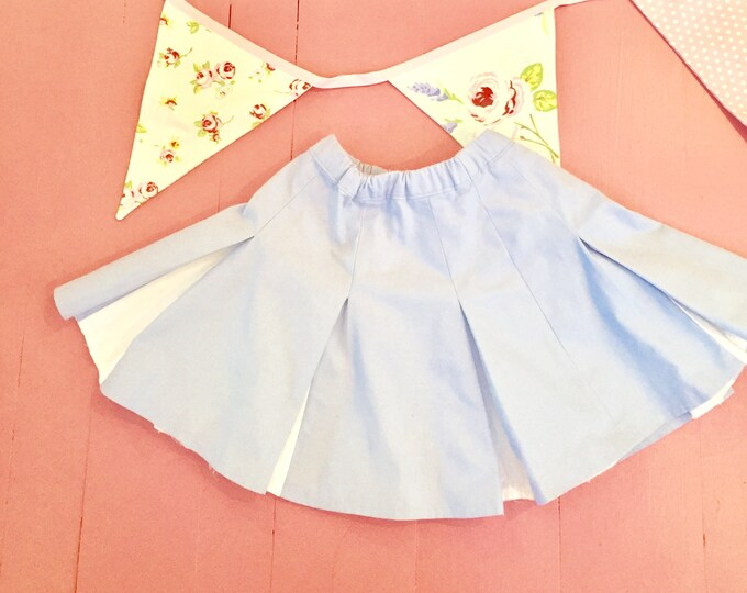 Vintage Cheerleader Skirt, Little Girl Dress Up Cheerleader Skirt, Girls Cheerleader Costume, Girls Pretend Play Cheerleader Skirt
