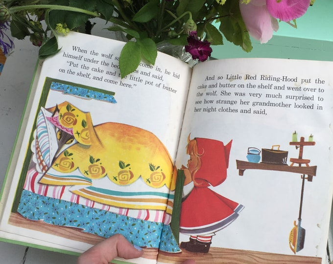 """Vintage 1950s, """"Little Red Riding Hood"""" book, Vintage Little Red Riding Hood Storybook, 1950s Children's Book, Collectible Book"""