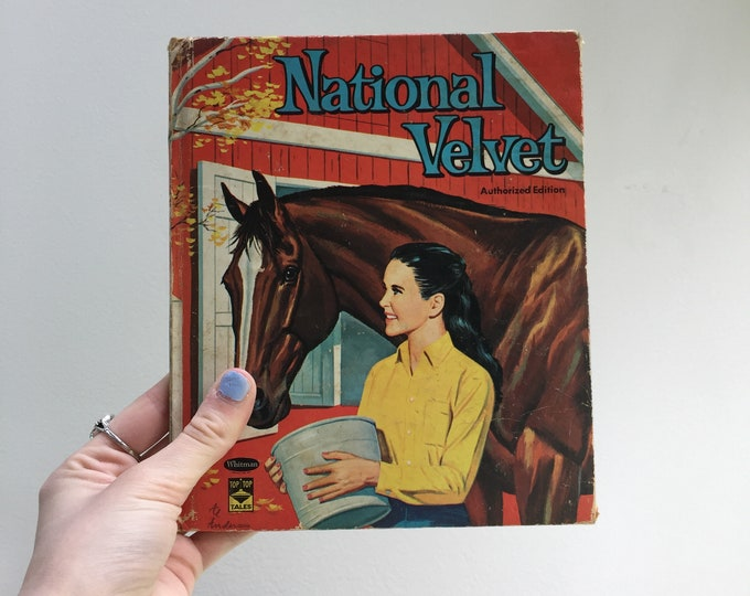 Vintage National Velvet Book, 1960s National Velvet Children's book, Vintage 1960s Children's Book, Vintage Horse Book, Vintage Movie Book