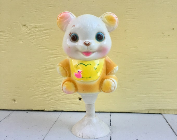 Vintage 1950s Baby Rattle, Vintage Baby Rattle, Vintage Suction Baby Rattle, 50s Baby Toy,  Vintage Nursery Decor