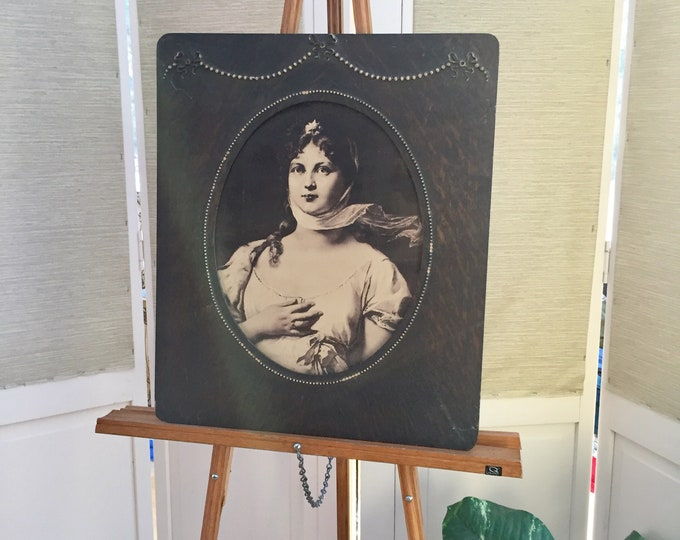 Vintage Ladies Photograph in Antique Frame, Vintage Large Framed Photograph, Vintage Framed Lady Print