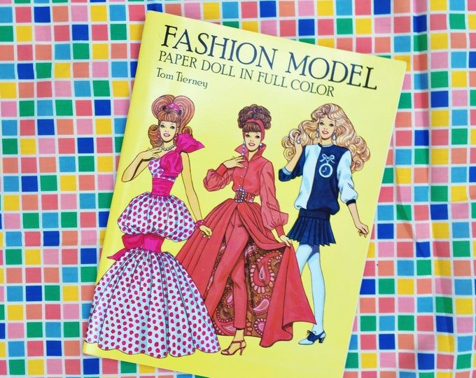 Vintage Fashion Paper Dolls Book, Vintage Paper Dolls Book, Vintage Fashion Paper Dolls Book, Fashion Model Paper Dolls
