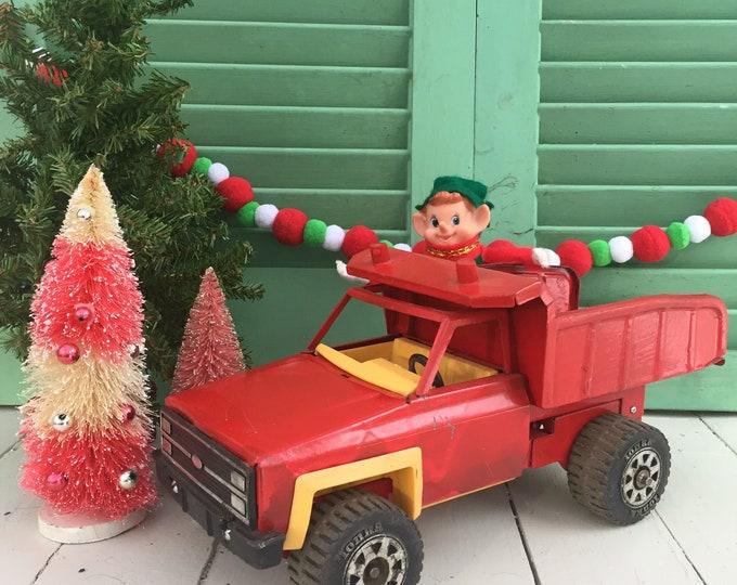 Vintage Toy Tonka Truck, Vintage Christmas Truck, Vintage Christmas Decorating Truck, Vintage Toy Truck