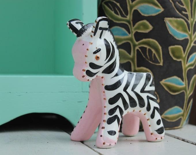Vintage Napco Zebra Planter, Vintage Napco Baby Planter, Vintage Baby Planter, Vintage Baby Gift, Vintage Baby Nursery Decor, Vintage Zebra