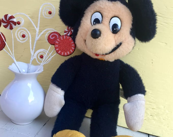 Vintage Knickerbocker Mickey Mouse Doll, 1970s Mickey Mouse Stuffed Animal, Vintage Mickey Mouse Doll, 1970's Disney Collectible
