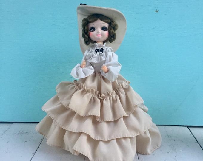 Vintage 1970s Bradley Doll, 10 inch Bradley Doll, 1970s Doll, Vintage Big Eyes Doll, Vintage Collectible Doll, Vintage Display Doll