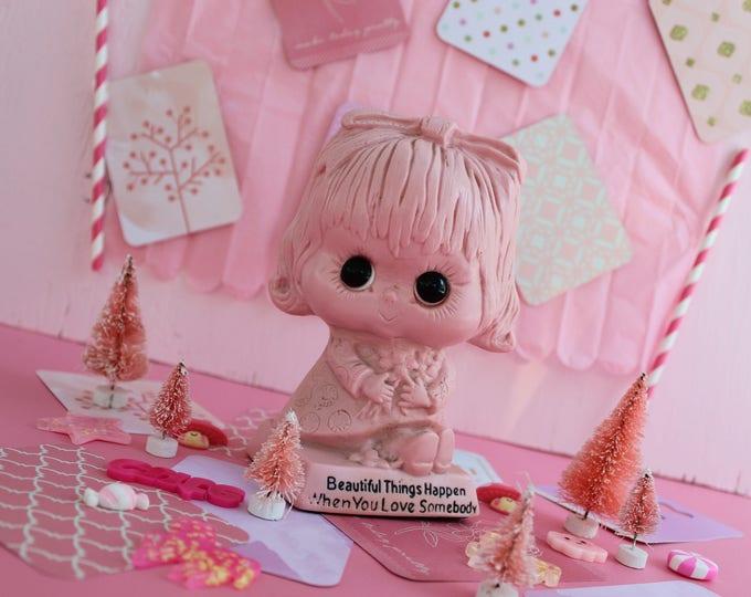 Vintage Russ Barrie Figurine, Vintage Retro Figurine, Vintage Valentine's Day Gift, Vintage Valentine's Day Decor, Retro Valentine's Gift