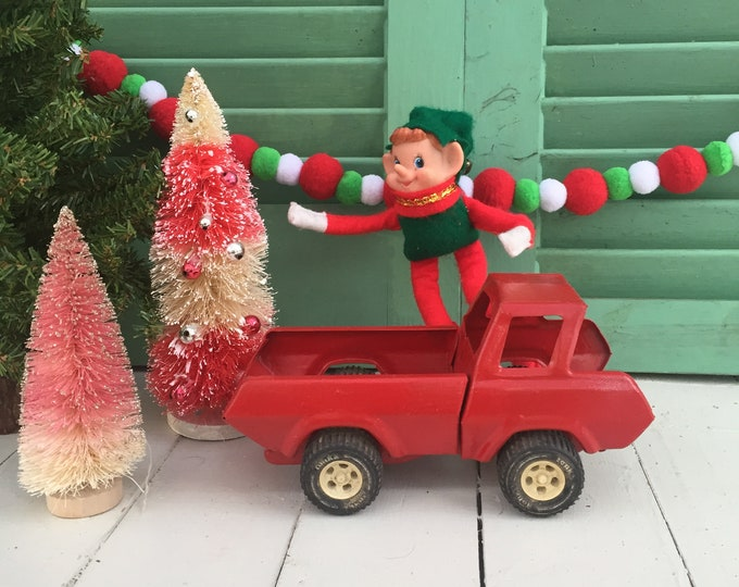 Vintage Tonka Truck, Small Red Tonka Truck, Vintage Christmas Truck, Small Tonka Truck