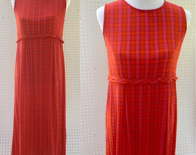 Vintage April Cornell Dress, Women's Size Small, Long Vintage Dress, 1990s Vintage Dress, Vintage Maxi Dress, Vintage Plaid Dress