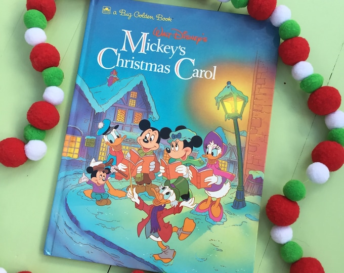 "Vintage 1990s, ""Mickey's Christmas Carol""  Book, Vintage Mickey Mouse Christmas Book, Vintage Disney Christmas Book"