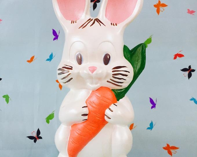 Vintage Ceramic Easter Bunny Statue, Vintage White Easter Rabbit Figurine, Vintage Easter Decor, Vintage Easter Gift