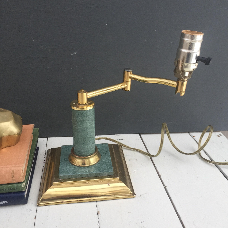 Vintage Green Marble Office Lamp Vintage Marble Desk Lamp Vintage Banker S Lamp Vintage Brass And Marble Table Lamp