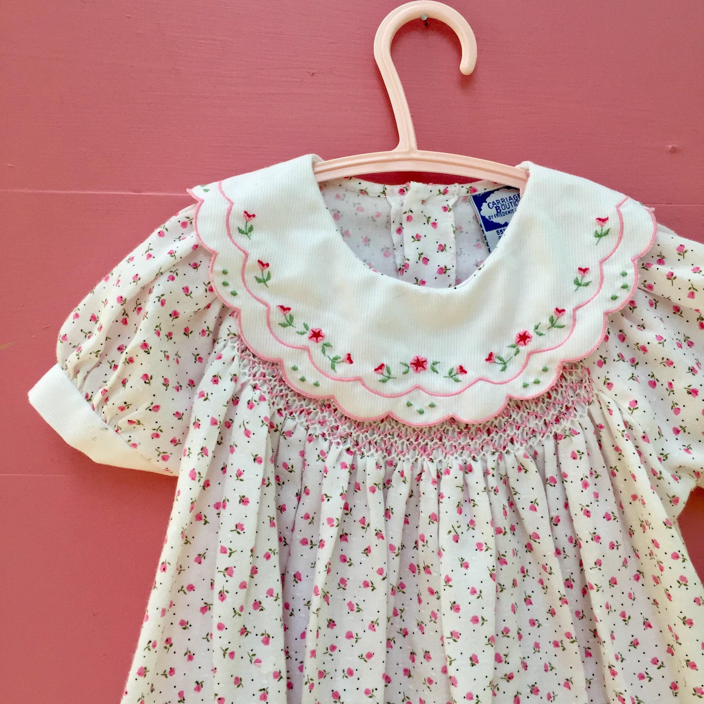 536122b8e10c8 Vintage Carriage Boutiques Dress, Size 9 months, Vintage Baby Girl ...