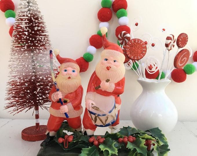 Vintage Santa Christmas Decoration, Kitschy Christmas Decor, Vintage Christmas Decor, Vintage Santa Table Centerpiece