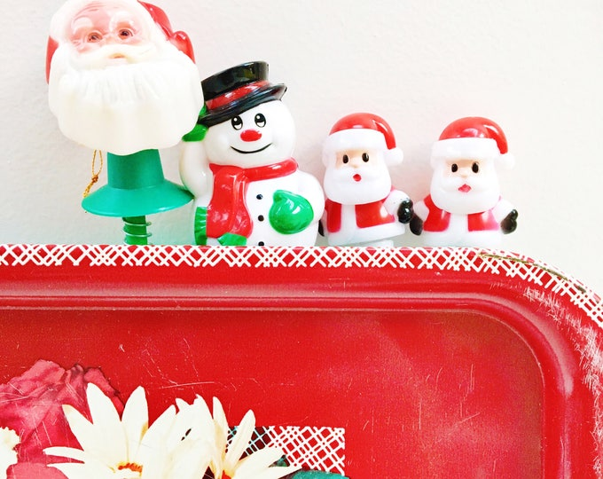 Vintage Christmas Stocking Stuffers, Set of Four, Vintage Christmas Novelty Items, Vintage Christmas Decor