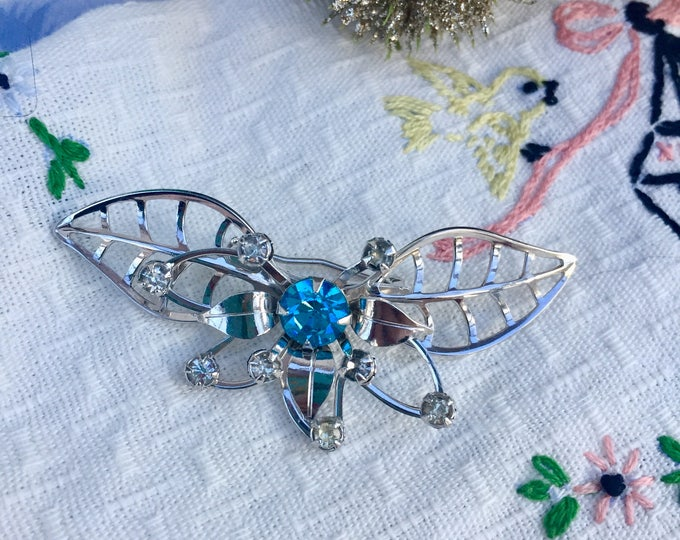 Vintage Butterfly Brooch, Vintage Butterfly Pin, Mid Century Butterfly Brooch, Mid Century Costume Pin
