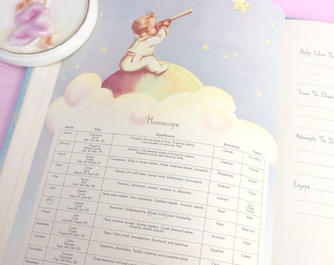 Vintage 1950s Baby Book, Vintage Baby Record Book, 1950s Baby Ephemera, Vintage Baby Gift, 1950s Baby Record Book