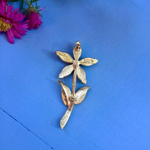 Vintage Flower Brooch, Vintage Pearl Flower Brooc… - image 6