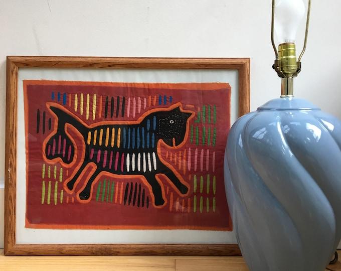 Vintage Indian Mola, Kuna Yala Indian Art, Panama Indian Mola, Vintage Mola, Indian Art, Vintage Textile Fiber Art, Textile Folk Art