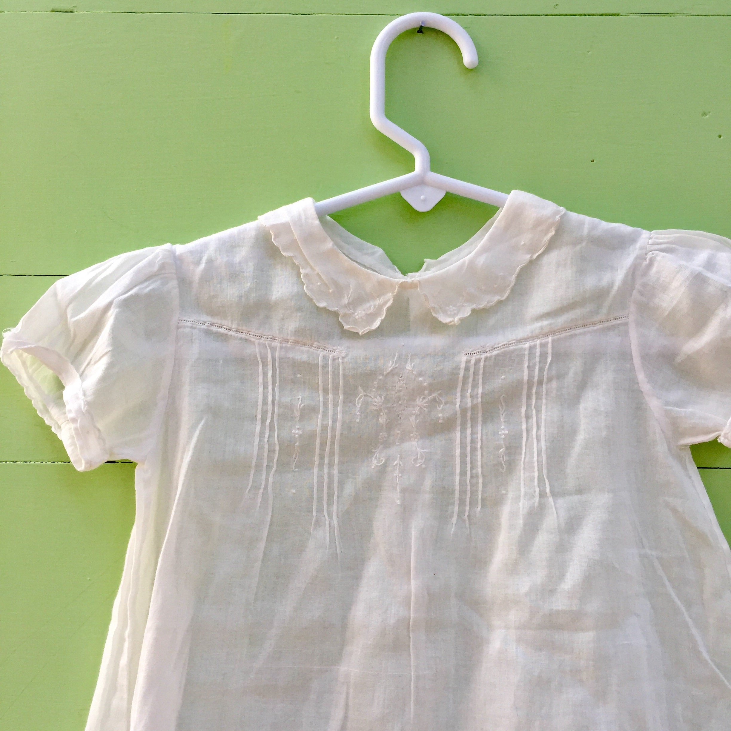 92ea4bc56 ... Vintage White Embroidered Baby Dress. gallery photo gallery photo ...