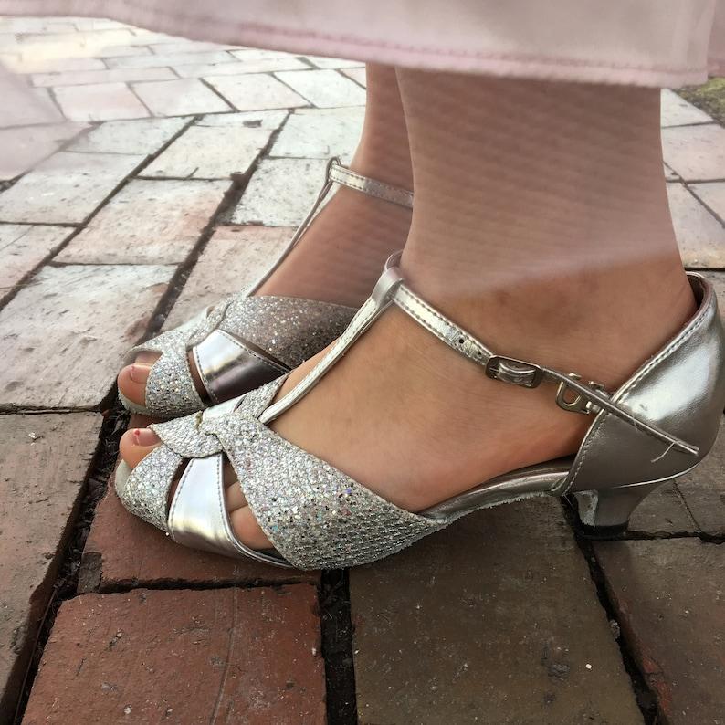 4e7625496bf Vintage Silver Heels Women s Size 6.5 Vintage Kitten