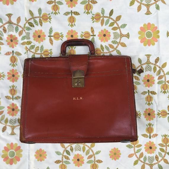 Vintage Rexbill Cowhide Leather Briefcase, 1950s L