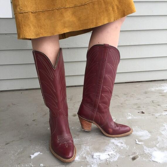 Vintage 1970s Cowboy Boots, Women's Vintage Cowboy
