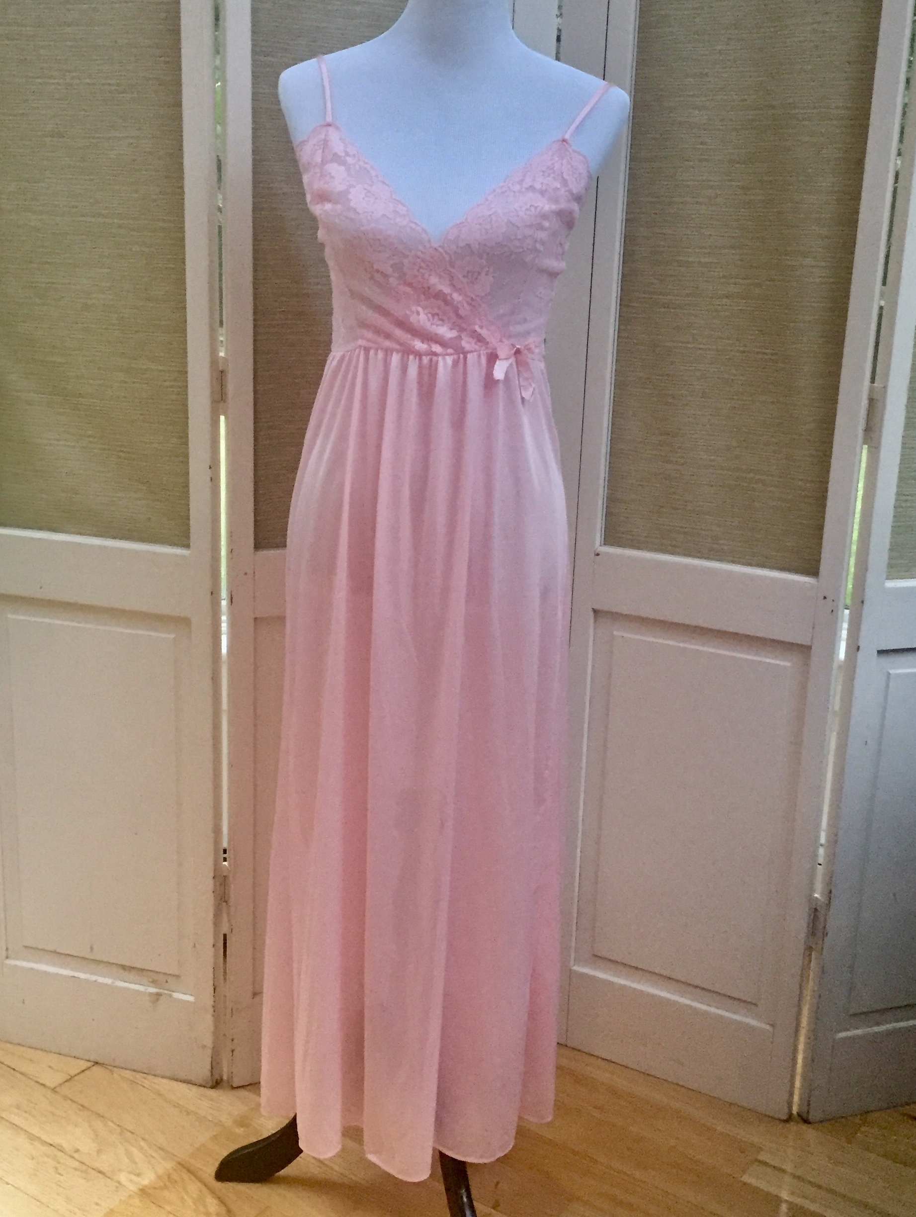 8154df1d345c ... 1960s Pink Satin Nightgown, 1960s Lingerie. gallery photo gallery photo  ...
