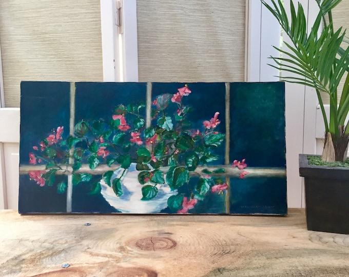 Vintage Still Life Painting, Vintage Original Artwork, Vintage Floral Painting, Original Artwork, Vintage Wall Decor