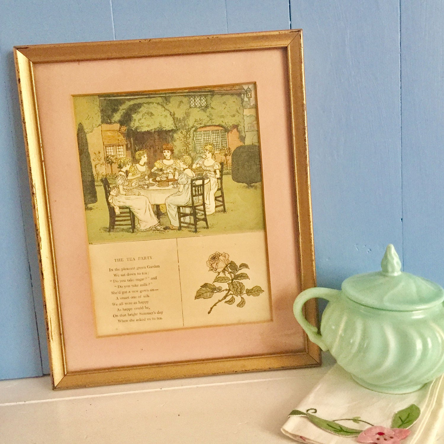Vintage Tea Party Framed Photo, Vintage Ladies at Tea Matted Wall ...