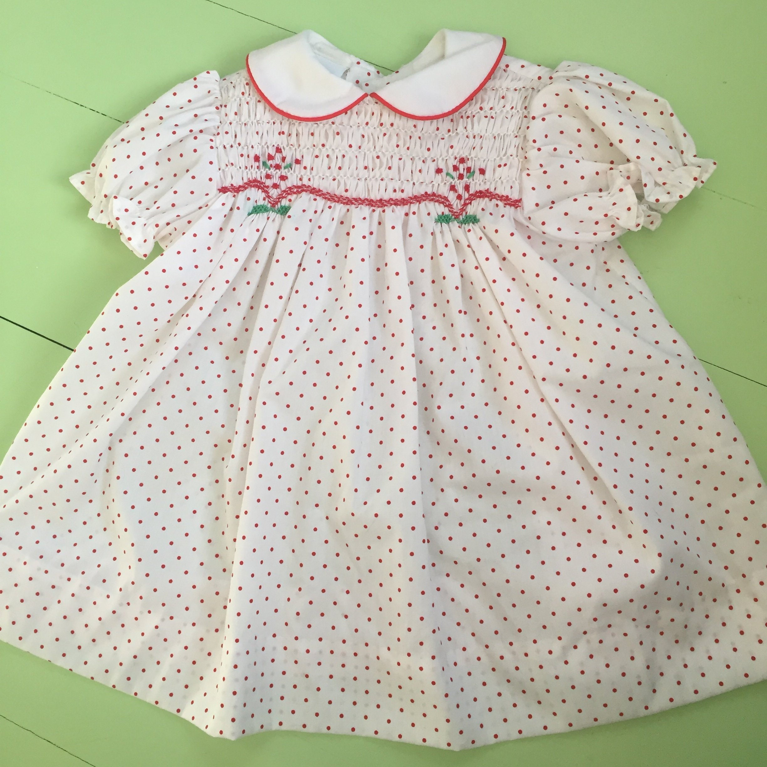 16c3c1be7 Vintage Polly Flinders Baby Dress, Size 12 months, Vintage Valentine's Day Baby  Dress, Vintage Smocked Baby Dress. gallery photo gallery photo ...