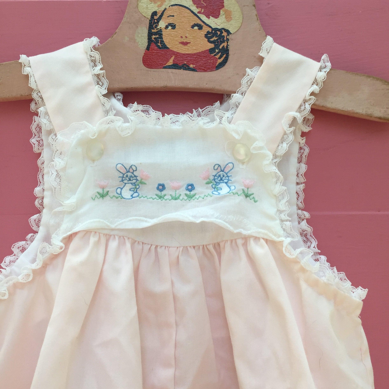 cacadd328 Vintage Baby Girl Romper