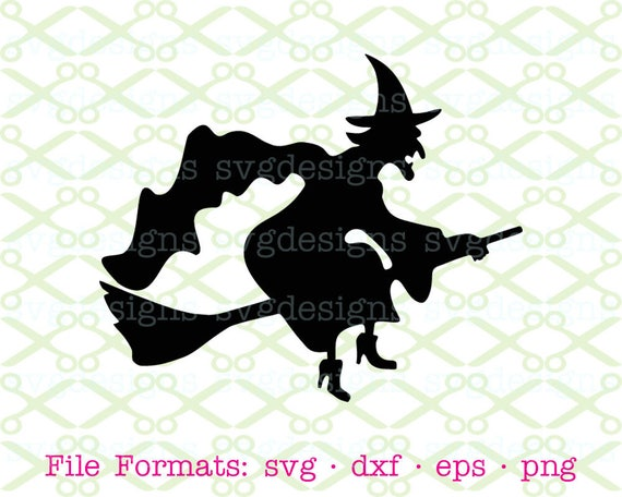 Halloween Witch Svg Dxf Eps Png Digital Cut Files Cricut Etsy