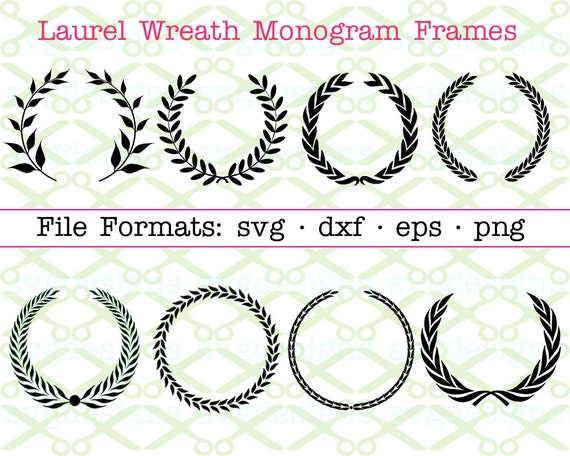 Get Fancy Leaf Wreath Monogram / Svg Png Dxf Crafter Files