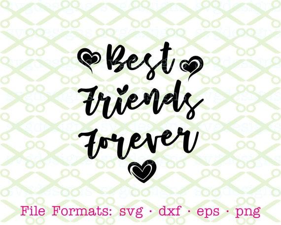 Best Friends Forever Svg Dxf Eps Png SVG