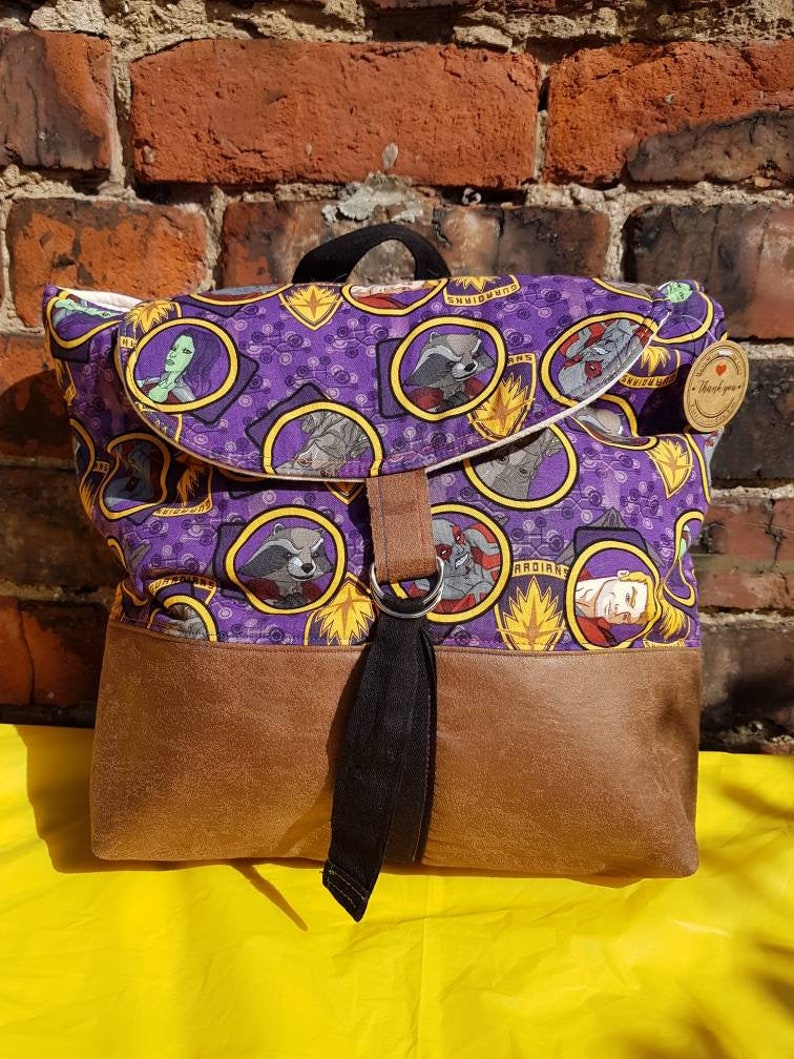 Knapsack Handmade Guardians of the Galaxy backpack