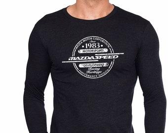 Mazdaspeed Tshirt - Mazda long sleeve - Racing tshirt - Rx7 - 787B - Mazdaspeed3 - Miata - Mazdaspeed6 - Men T-shirt- rx8