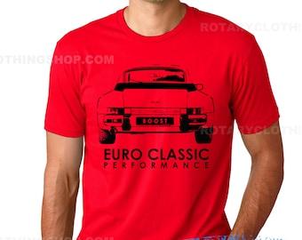 1980s 911 Turbo Tshirt artwork- Euro Classic collection - Classic sport car